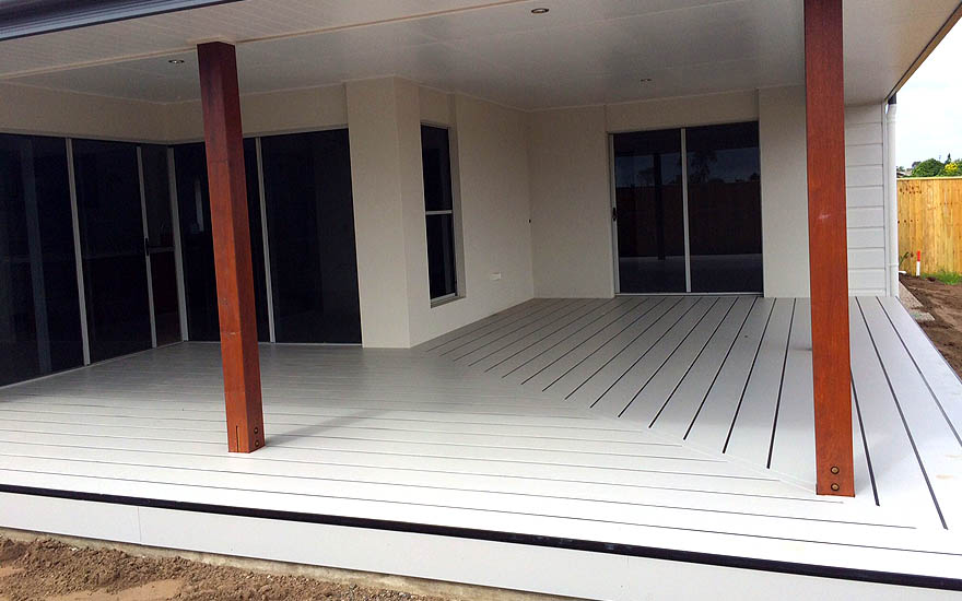 Composite deck corner designs and layouts hardiedeck™ system